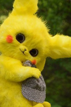 Pikachu Detective Pokemon toy by MonkeyBusinessToys. Mystical creatures toys of forest animals. Fantasy Stuffed Animals toys for collectibles and home decorations. Mythical plush beasts kids and adult toys Baby Animals Super Cute, Cute Kawaii Animals, Cute Little Animals, Cute Funny Animals, Cute Dogs, Cute Pokemon Wallpaper, Cute Cartoon Wallpapers, Cute Fantasy Creatures, Cute Creatures