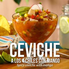 Ceviche is a product of Peru and is the combination of seafood and citrus. Delicious either served cold dorm room temperature Fish Recipes, Seafood Recipes, Mexican Food Recipes, Mexican Drinks, Mexican Meals, Dinner Recipes, Cooking App, Cooking Recipes, Healthy Recipes