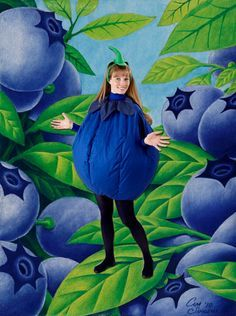 Reese's addicted to blueberries... Halloween 2014 blueberry costume