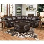 Simmons Upholstery - Panama Bonded Leather Sectional In Espresso - 9222-DN-06-05-09WSECTIONAL