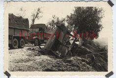 MD214 Foto Wehrmacht Panzer A.A.7 Polen Feldzug Beute Traktor Schlepper + LKW ! | eBay