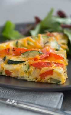 Hearty Veggie Frittata / The Best Meals Happen At Home.