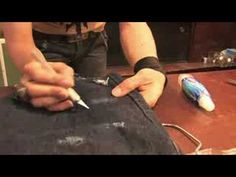 How to distress your denim – Instructional video | Liberty Jane Doll Clothes Patterns For American Girl Dolls