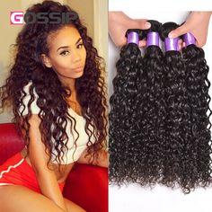 4 Bundles Brazilian Virgin Hair Water Wave Wet And Wavy Virgin Brazilian Hair Water Wave Virgin Hair Curly Human Hair Bundles