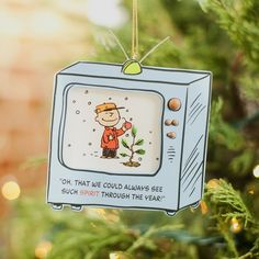 Peanuts Christmas - Good Tidings - Christmas Ornament. This charming Peanuts Christmas ornament captures a scene from the beloved Christmas TV Special, A Charlie Brown Christmas.. Price: $6.49