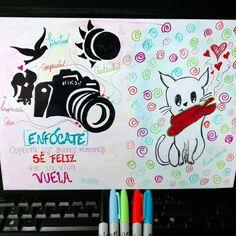 Enfócate, captura los Buenos momentos, sé feliz, que la Vida vuela @listhc #nikon #illustration #dibujo #boceto