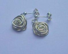 Sterling silver rose earrings £15.00