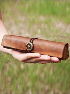 Leather pencil box