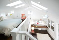 37 best ideas for apartments for collegefuture images on pinterest this sleeping loft for guests is part of a converted garage in san francisco it looks out over the homeowners office and a small living space modern solutioingenieria Choice Image