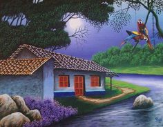 Flower Art, Art Flowers, Cuban Art, Amazing Gardens, Decoupage, Garden Fun, Mansions, Bottle, House Styles