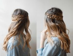 Easy Half-Up Braided Up Do