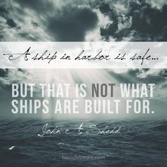 That's not what ships are built for. #wordywednesday