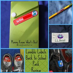 Mommy Knows What's Best: Back to School Personalized Kids Labels from Lovable Labels, Review and Giveaway