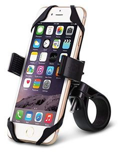 Bike & Motorcycle Smartphone Mount Holder, Universal Bicycle [Most Secure] Handlebar Holder for ALL Smartphones iPhone and Galaxy, [Lifetime Warranty]