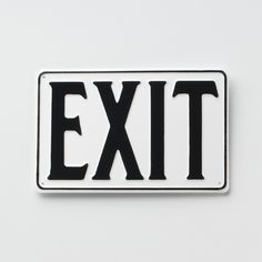 """Schoolhouse Electric """"EXIT"""" sign.  Not sure if meets code?"""