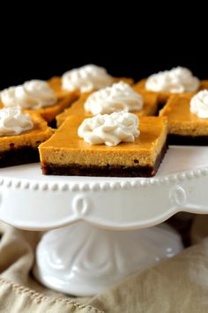 Pumpkin Cheesecake Squares | Community Post: 19 Decadent Pumpkin Desserts That Will Leave You Drooling