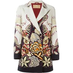 Etro floral print coat found on Polyvore featuring outerwear, coats, multicolour, floral coat, colorful coat, etro, floral print coat and multi colored coat