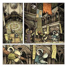Shorestone's interior from Mouse Guard: The Black Axe  David Petersen's Blog