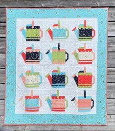 Watering Cans Quilt Kit - Gordy & Micks Quilt Shop Picnic Quilt, Flower Quilts, Log Cabin Quilts, Landscape Quilts, Quilt Sizes, Art Lessons Elementary, Quilt Stitching, Quilt Patterns, Quilting Ideas