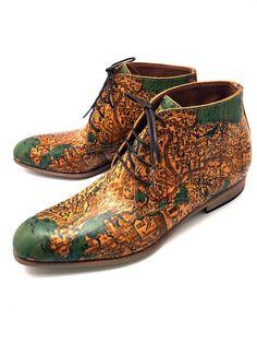memestyle chukka boots / The Japanese Tokaido map