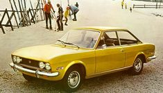 Let's go skiing! Fiat 124 Coupe