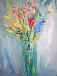 Buy Bouquet, Oil painting by Lilia Orlova-Holmes on Artfinder. Discover thousands of other original paintings, prints, sculptures and photography from independent artists.