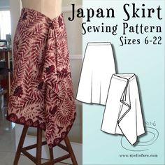 Skirt Patterns Sewing, Skirt Sewing, Clothing Patterns, Easy Sew Dress, Wrap Around Skirt, Winter Skirt, African Print Fashion, Sewing Clothes, Kebaya
