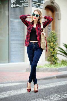 28 Outfits con camisa de cuadros. | Felicidad – Frases y artículos de amor y…