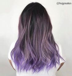 20 lila Balayage Ideen von subtil bis lebendig 20 purple balayage ideas from subtle to lively Ash Brown Hair Color, Hair Color Purple, Cool Hair Color, Brown Hair Purple Ends, Subtle Purple Hair, Purple Roses, Brown Hair Ombre Purple, Purple Hair Tips, Purple Dip Dye