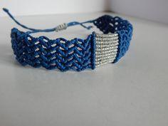 Excited to share the latest addition to my #etsy shop: Greek Style,Blue Macrame Bracelet,Blue Silver Bracelet,Surfer Bracelet,waterproof,Hippie,Boho,Cuff Bracelet,Cavandoli http://etsy.me/2EGHARY #jewelry #bracelet #unisexadults #bakibou