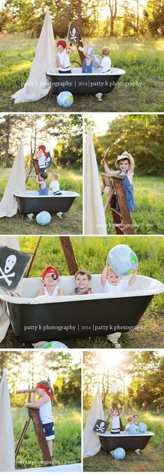 Pirates in a TUB | Imagination Session | Raeford, NC Child Photographer | Patty K Photography