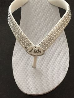 7e61a22a72f98f Beach Wedding Shoes · WEDDING Flip FlopsBridal Flip Flops Wedges. I DO  Bridal Bling Flip Flops