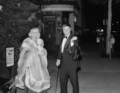 Maj and Larry Hagman paused for photographers outside Le Bistro in Beverly Hills, Calif., on Saturday, Nov. 7, 1981       RIP Larry....