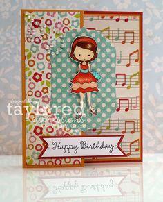 Moka Taylor birthday card by Wanda Guess #Moka