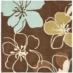 Safavieh Modern Art Brown/Multi Rug Rug Size: Square 7'