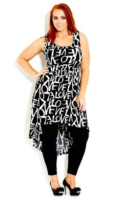 City Chic - ALL ABOUT LOVE TUNIC - Women's Plus Size Fashion #citychic #citychiconline #newarrivals #plussize Nail Design, Nail Art, Nail Salon, Irvine, Newport Beach