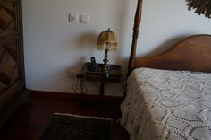 pair small bed side table plus lamp