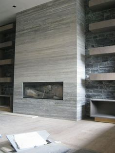 Excellent Cost-Free Contemporary Fireplace shelves Thoughts Modern fireplace designs can cover a broader category compared for their contemporary counterparts. Modern Fireplace Tiles, Contemporary Fireplace Designs, Fireplace Tile Surround, Fireplace Shelves, Home Fireplace, Fireplace Remodel, Marble Fireplaces, Fireplace Surrounds, Fireplace Mantels