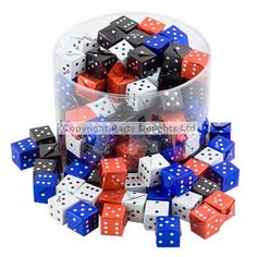 Sweets Party Novelty Chocolate Dice