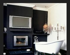 The Best Bathrooms with Fireplaces