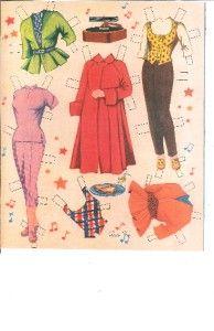 doris day paper dolls   Details about VINTAGE 1950S DORIS DAY PAPER DOLL LAZER RPRO ORG SZ