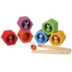 juguete de madera abejas en la colmena