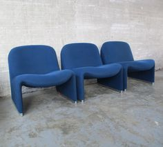 3 lounge chairs from the seventies by Giancarlo Piretti for Artifort