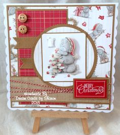 Tatty Teddy Beautiful Christmas Cards, Christmas Tag, Handmade Christmas, Christmas Crafts, Forever Friends Cards, Teddy Pictures, Craft Cards, Square Card, Tatty Teddy