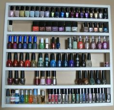 Tag res vernis and rangements on pinterest - Rangement mural vernis a ongles ...