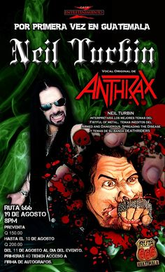Neil Turbin The Metal Beast Is Back Tour Latin America 2016 Central, Guatemala…