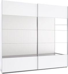 Details:   In 7 Breiten, Front mit 10 individuell kombinierbaren Elementen, davon 6 aus Glas bzw. Spiegel und 4 mit Dekor, In 6 Farben: Korpus und Front weiß oder struktureichefb. hell mit Frontelementen wahlweise mit Spiegel oder in Steingrau- bzw. Weißglas, Silberfarbene Metallgriffleisten, bei Farbe weiß-Weißglas mit weißen Metallgriffen, Pflegeleichte Kunststofffläche, Innendekor ahornfarbe...