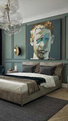 Ideas for apartment interior bedroom sleep Elegant Home Decor, Elegant Homes, Cheap Home Decor, Trendy Bedroom, Modern Bedroom, Emerald Bedroom, Home Decor Bedroom, Design Bedroom, Bedroom Sets