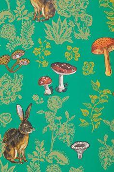 Mushroom Forest Wallpaper - anthropologie.com