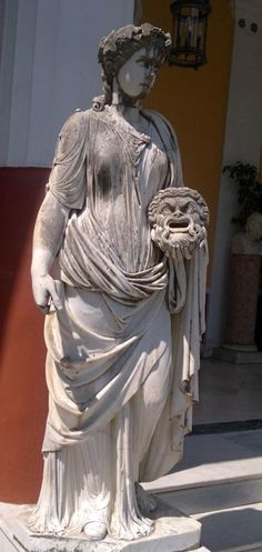 Melpomene, the Muse of Tragedy  in Achílleion, Kerkira (Corfu),Greece.